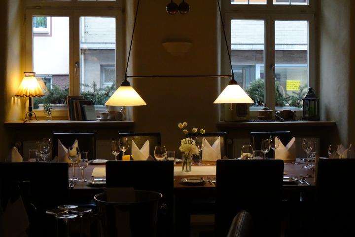 Gedeckter Tisch Badischer Hof Mannheim-Seckenheim