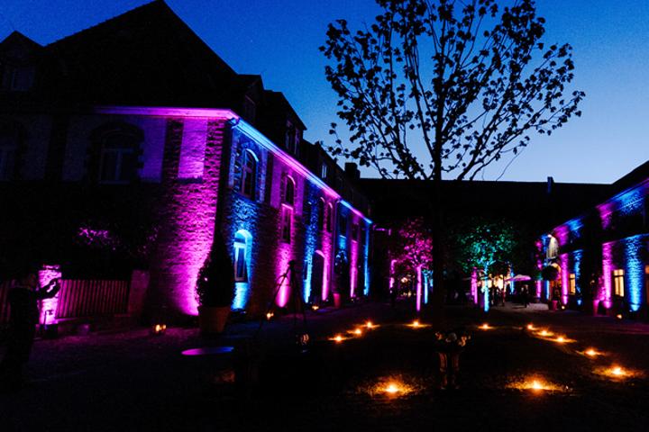 Gutshof Ladenburg Innenhof nachts